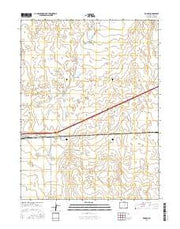 Roggen Colorado Current topographic map, 1:24000 scale, 7.5 X 7.5 Minute, Year 2016 from Colorado Maps Store