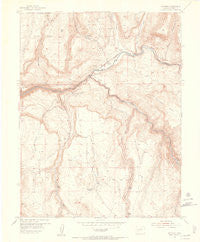 Sapinero Colorado Historical topographic map, 1:24000 scale, 7.5 X 7.5 Minute, Year 1954