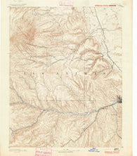 Spanish Peaks Colorado Historical topographic map, 1:125000 scale, 30 X 30 Minute, Year 1891