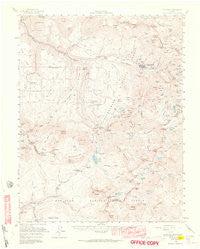 Telluride Colorado Historical topographic map, 1:62500 scale, 15 X 15 Minute, Year 1955