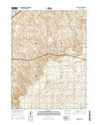 Uhler Ranch Colorado Current topographic map, 1:24000 scale, 7.5 X 7.5 Minute, Year 2016