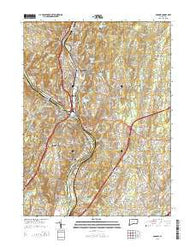 Ansonia Connecticut Current topographic map, 1:24000 scale, 7.5 X 7.5 Minute, Year 2015