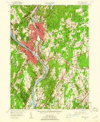 Ansonia Connecticut Historical topographic map, 1:24000 scale, 7.5 X 7.5 Minute, Year 1953