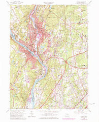 Ansonia Connecticut Historical topographic map, 1:24000 scale, 7.5 X 7.5 Minute, Year 1964