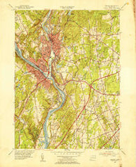 Ansonia Connecticut Historical topographic map, 1:31680 scale, 7.5 X 7.5 Minute, Year 1953