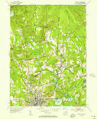 Ashaway Rhode Island Historical topographic map, 1:24000 scale, 7.5 X 7.5 Minute, Year 1953