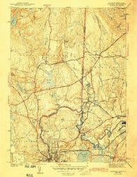 Ashaway Rhode Island Historical topographic map, 1:31680 scale, 7.5 X 7.5 Minute, Year 1943