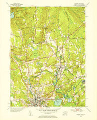 Ashaway Rhode Island Historical topographic map, 1:31680 scale, 7.5 X 7.5 Minute, Year 1953