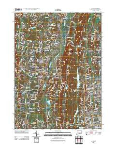 Avon Connecticut Historical topographic map, 1:24000 scale, 7.5 X 7.5 Minute, Year 2012