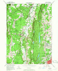 Avon Connecticut Historical topographic map, 1:24000 scale, 7.5 X 7.5 Minute, Year 1957