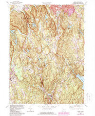 Bethel Connecticut Historical topographic map, 1:24000 scale, 7.5 X 7.5 Minute, Year 1970