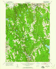 Bethel Connecticut Historical topographic map, 1:24000 scale, 7.5 X 7.5 Minute, Year 1951