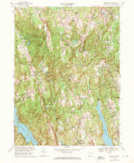 Botsford Connecticut Historical topographic map, 1:24000 scale, 7.5 X 7.5 Minute, Year 1969