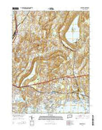 Branford Connecticut Current topographic map, 1:24000 scale, 7.5 X 7.5 Minute, Year 2015 from Connecticut Map Store