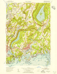 Branford Connecticut Historical topographic map, 1:31680 scale, 7.5 X 7.5 Minute, Year 1954