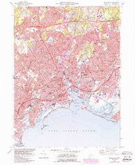 Bridgeport Connecticut Historical topographic map, 1:24000 scale, 7.5 X 7.5 Minute, Year 1970