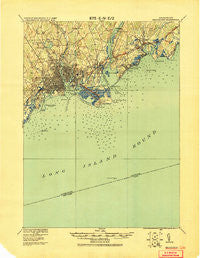 Bridgeport Connecticut Historical topographic map, 1:62500 scale, 15 X 15 Minute, Year 1920