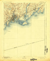 Bridgeport Connecticut Historical topographic map, 1:62500 scale, 15 X 15 Minute, Year 1893