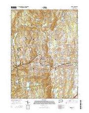 Bristol Connecticut Current topographic map, 1:24000 scale, 7.5 X 7.5 Minute, Year 2015 from Connecticut Maps Store