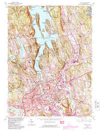 Danbury Connecticut Historical topographic map, 1:24000 scale, 7.5 X 7.5 Minute, Year 1963
