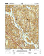 Deep River Connecticut Current topographic map, 1:24000 scale, 7.5 X 7.5 Minute, Year 2015 from Connecticut Map Store