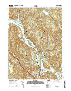 Deep River Connecticut Current topographic map, 1:24000 scale, 7.5 X 7.5 Minute, Year 2015