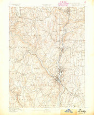 Derby Connecticut Historical topographic map, 1:62500 scale, 15 X 15 Minute, Year 1889
