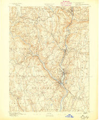 Derby Connecticut Historical topographic map, 1:62500 scale, 15 X 15 Minute, Year 1891