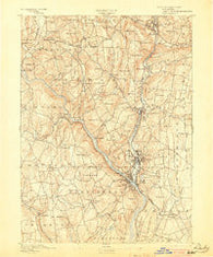 Derby Connecticut Historical topographic map, 1:62500 scale, 15 X 15 Minute, Year 1893