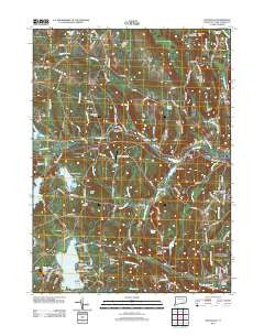 Fitchville Connecticut Historical topographic map, 1:24000 scale, 7.5 X 7.5 Minute, Year 2012
