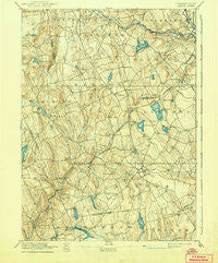 Gilead Connecticut Historical topographic map, 1:62500 scale, 15 X 15 Minute, Year 1892