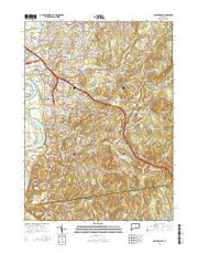 Glastonbury Connecticut Current topographic map, 1:24000 scale, 7.5 X 7.5 Minute, Year 2015 from Connecticut Maps Store