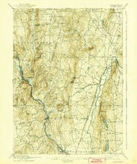 Granby Connecticut Historical topographic map, 1:62500 scale, 15 X 15 Minute, Year 1892