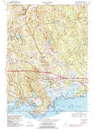Guilford Connecticut Historical topographic map, 1:24000 scale, 7.5 X 7.5 Minute, Year 1968