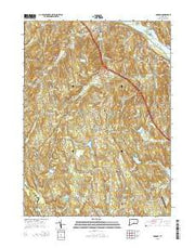 Haddam Connecticut Current topographic map, 1:24000 scale, 7.5 X 7.5 Minute, Year 2015 from Connecticut Maps Store