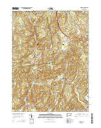 Hamburg Connecticut Current topographic map, 1:24000 scale, 7.5 X 7.5 Minute, Year 2015 from Connecticut Map Store