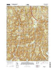 Hamburg Connecticut Current topographic map, 1:24000 scale, 7.5 X 7.5 Minute, Year 2015 from Connecticut Maps Store