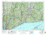 Hartford Connecticut Historical topographic map, 1:250000 scale, 1 X 2 Degree, Year 1962