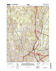 Hartford North Connecticut Current topographic map, 1:24000 scale, 7.5 X 7.5 Minute, Year 2015 from Connecticut Maps Store