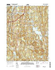 Jewett City Connecticut Current topographic map, 1:24000 scale, 7.5 X 7.5 Minute, Year 2015 from Connecticut Maps Store