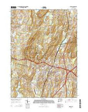 Meriden Connecticut Current topographic map, 1:24000 scale, 7.5 X 7.5 Minute, Year 2015 from Connecticut Maps Store