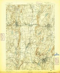 Meriden Connecticut Historical topographic map, 1:62500 scale, 15 X 15 Minute, Year 1892