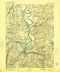 Middletown Connecticut Historical topographic map, 1:62500 scale, 15 X 15 Minute, Year 1893