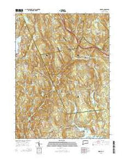 Moodus Connecticut Current topographic map, 1:24000 scale, 7.5 X 7.5 Minute, Year 2015 from Connecticut Maps Store