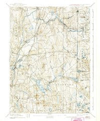 Moosup Connecticut Historical topographic map, 1:62500 scale, 15 X 15 Minute, Year 1893