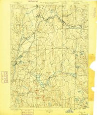 Moosup Connecticut Historical topographic map, 1:62500 scale, 15 X 15 Minute, Year 1889