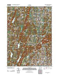 Mount Carmel Connecticut Historical topographic map, 1:24000 scale, 7.5 X 7.5 Minute, Year 2012