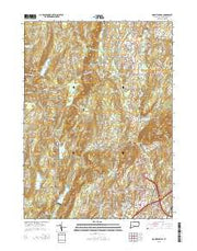 Mount Carmel Connecticut Current topographic map, 1:24000 scale, 7.5 X 7.5 Minute, Year 2015 from Connecticut Maps Store