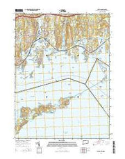 Mystic Connecticut Current topographic map, 1:24000 scale, 7.5 X 7.5 Minute, Year 2015 from Connecticut Maps Store