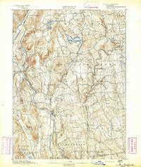 New Milford Connecticut Historical topographic map, 1:62500 scale, 15 X 15 Minute, Year 1892